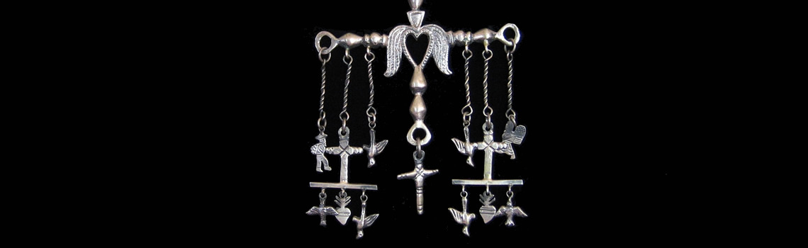 Slider – Yalalag Cross Pendant With Dangles