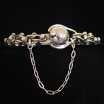 Antonio Pineda Design Sterling Silver DNA Chain Bracelet with Ball Clasp