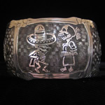 Day of the Dead Sterling Silver Cuff Bracelet by Maria Belen Nilson