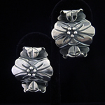Carmen Armstrong Original Design Fine .980 Silver Floral Earrings Inspired by Victoria de Taxco