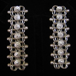 Carlos Ramos Sterling Silver Filigree Earrings from the Yucatan, Mexico