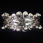 Hector Aguilar Reproduction .940 Fine Silver Bracelet Rocio Pattern by Jose Luis Flores
