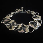 Hector Aguilar of Taxco Reproduction Sterling Silver Knot Bracelet