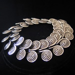 Coiled Sterling Silver Twisted Wire Circle Bracelet from Taxco, Mexico