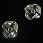 Hector Aguilar of Taxco Reproduction Sterling Silver Knot Clip Earrings