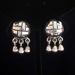 Hector Aguilar Reproduction Fine .950 Silver Pre-Columbian Earrings