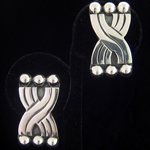 Hector Aguilar Reproduction Six Spheres Sterling Silver Clip Earrings by Maestro Jose Luis Flores