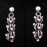 Antonio Pineda Design Sterling Silver DNA Chain Earrings