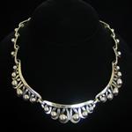 Hector Aguilar Reproduction .940 Fine Silver Necklace Rocio Pattern by Jose Luis Flores
