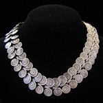 Coiled Sterling Silver Wire Circle Necklace from Taxco, Mexico