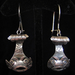 Catfish Sterling Silver Earrings