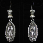 Virgin of Guadalupe Sterling Silver Earrings
