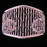 Peruvian Fine .950 Silver with Turquoise Accents Cuff Bracelet