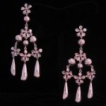 Feminine Flirtatious Floral Earrings in Fine .950 Silver from Peru