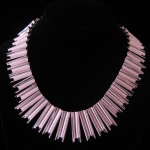 Antonio Pineda Inspired Vintage Modernist Sterling Silver Necklace from Taxco, Mexico