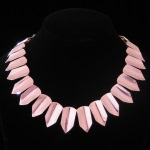 Antonio Pineda Inspired Vintage Sophisticated Modernist Sterling Silver Collar Necklace from Taxco, Mexico