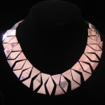 D'Escorcia Studio of Taxco Bold Geometric Collar Necklace in Sterling Silver